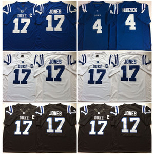 2020 Duke Blue Devils 17 Daniel Jones 4 Myles Hudzick Football 2019 NCAA college wears MENS Jersey American College Football Wear