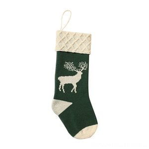 1pc Christmas Socks Deer Printed Knitted Acrylic Hosiery Gift Sports Socks Athletic & Outdoor Accs Holder Tree Ornament Stocking Fireplace H