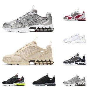 Nike Air Zoom Spiridon Cage 2 Stussy  신발 트리플 검은 구름 흰색 태양 레드 네온 그린 자랑 운동화 운동 걷기
