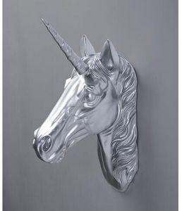 Harz tier kopf hirschkopf pferdekopf einhorn wandbehang wanddekorationen skulptur handwerk statue großhandel factory outlet