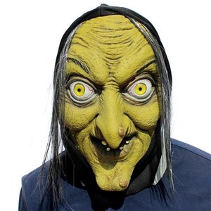 1 Pc Green Face Mask Face Scary Prop Funny Masquerade Mask Halloween Latex Party Mask SH190922 For Cosplay Dance Show Witch Xkjql