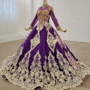2020 del collo di Applique Abiti da sera elegante convenzionale alta fiori Handmade Lace Up Back abito da sera lungo Vestido Fiesta Largo De Noche
