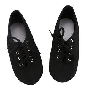 Yumuşak Bez Dans Caz Erkekler Kadınlar Siyah Sneakers Jimnastik Spor Ayakkabı için Bale Shoes