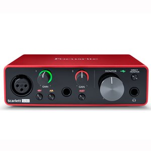 Focusrite Scarlett Solo (3rd gen) USB Audio Interface with Microphone Preamp External Sound card for Guitar and microphone