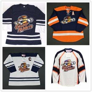 Personalizzato ECHL 2016-2017 Greenville Swamp Conigli 24 Justin DaSilva 11 Bretton Cameron pullover del hokey ha cucito CCM qualsiasi nome del proprio numero d'epoca