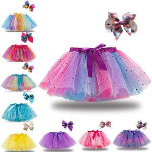 18 colori moda del bambino dei capretti ragazze del pannello esterno principessa Stelle glitter ballo tutu gonna in chiffon bambini Paillettes Dance Party Ballet Gonne DHA655