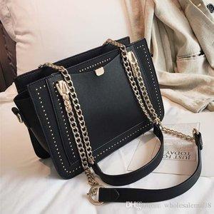 Luxury Handbag Women Bag Designer Brand Metal Chain Tote Bag Casual Rivet Shoulder Bags Crossbody Bag