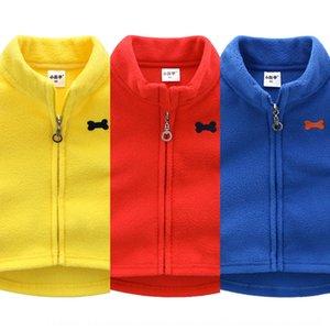 Children's fleece baby waistcoat warm boys and girls 2020 Autumn warm vest vest season coat tide