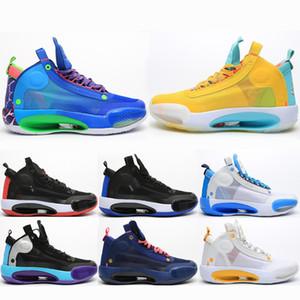 2020 más nuevos zapatos de baloncesto de Jumpman 34 Snow Leopard 34 hombres XXXIV azul Void Bred 34 de Eclipse entrenadores deportivos sneaker40-46