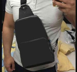 Real bolsa de couro no peito Homens AV. SLING BAG D.GRAP. saco de viagem N41719 MENS corpo transversal ombro mama bolsa N41612 N41473 41473 N41712 AVENUE
