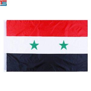 Dijital baskı Suriye Bayrağı iki grommet ile 90x150 cm Polyester Ulusal Ülke Bayrağı Afiş