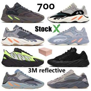 700 Programı Siyah Kanye West Erkek Kadınlar Koşu Ayakkabı Geode Statik Leylak Atletik Atalet OG Dalga Koşucu Katı Gri Spor Sneakers 36-46