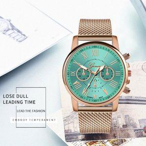 Geneva Классический Roman Digital Женские часы кварца качества Женские часы платье часы Подарок Montre Femme 50