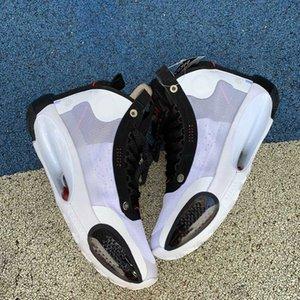 La nueva llegada diseñador de moda de lujo de los hombres de París juego 34 Baloncesto corriente blanco zapatos para hombre de las zapatillas de deporte al aire libre Deportes Plataforma formadores 7-12