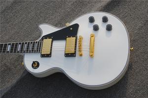 Fabrik-kundenspezifische weiße elektrische Gitarre mit Palisander Griffbrett, White Pearl Block, Gold-Hardware, Angebote Customized