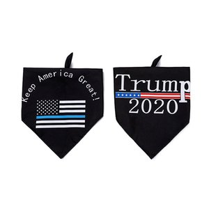 2020 New American Election Trump double face Pet Triangle serviette Dog Pet Supplies Saliva serviette Livraison gratuite via DHL