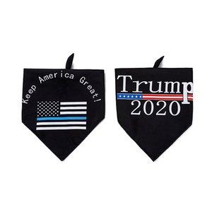 2020 Новая американская избирательная Trump Двусторонний Pet Triangle Полотенце Dog Слюна Полотенце зоотоваров Свободная перевозка груза через DHL