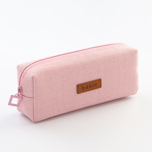 DIY simple colorful cute Teenager Student Pencil Case school writing stationery large capacity cosmetic canvas bag