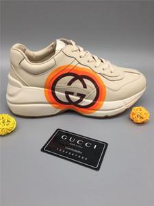 Rhyton sneaker con doppia G e il cuore del progettista della scarpa da tennis di lusso di modo delle donne delle scarpe da tennis unisex dei pattini casuali con la scatola Size 35-45