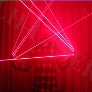 Guanto laser singolo colore rosso / verde / blu per ballerino e sistema di illuminazione per guanti laser divertente per feste / Chrismas