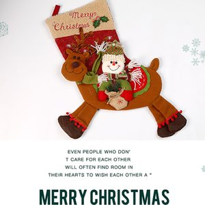 BEAU-Christmas Stocking Gift Bags Christmas Decorations for Home New Year Gifts Bag Navidad Socks Natal Tree Decoration Presents