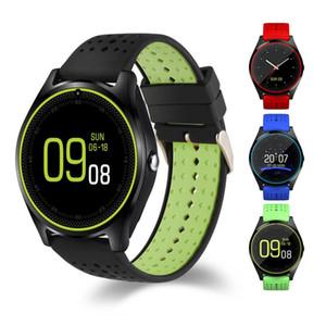 V9 رصد معدل ضربات القلب ووتش الذكية دعم كاميرا ساعة ذكية بطاقة SIM ساعة اليد لمشاهدة الرجال النساء الأطفال لبس الأجهزة الرياضية