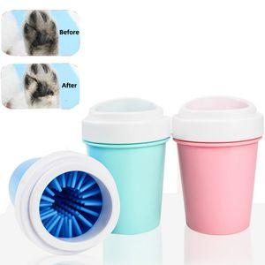 1PCS Pet Dog piede Coppa Wiping piede dispositivo di lavaggio Small Medium cani Jin Mao Teddy Cat pulizia Prodotti Acessorios