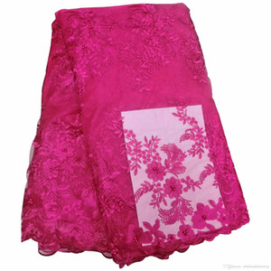 2020 mais novo Partido Africano Bela Lace Flowers Lace material para vestidos de noiva vestidos de tecido frete grátis Lace BF0005