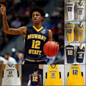 Murray Racers Estado 12 Ja Morant Jersey Temetrius Jamel OVC Ohio Valley NCAA College Basketball veste shirt da universidade do S-XXXL