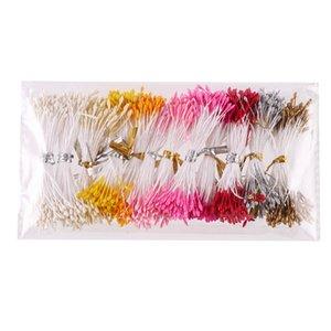 Couleurs de mélange d'étamine de fleur de 900pcs / lot 1mm utilisées pour épouser des accessoires en nylon de fleur