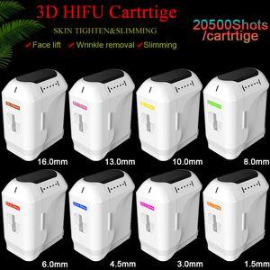 Cartuchos HIFU 20500 disparos levantamiento facial forma de cuerpo eliminación de arrugas Suministros subsidiarios 3D HIFU una vez que presione 11 líneas cada cartucho hifu