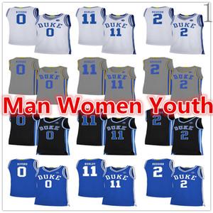 2020 на заказ NCAA Duke Blue Devils баскетбольного Остин Риверс 0 Cam Красноватого 2 Бобби Херли 11 Джерси любого имя номер размер S-5XL
