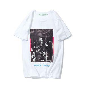 20% OFF Top Quality Brand Designer Clothing Men Women White T-Shirt Print Tees Short Sleeve 18081