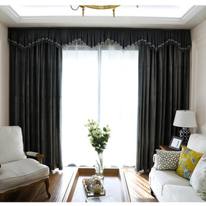 Pure Color Window Blackout Curtain Velvet High Shading Шторы для гостиной Шторы Спальня Кухня Home Hotel Decor
