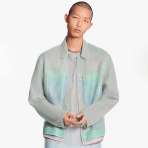 20SS Jacquard monograma malha Jacket Moda High-End Splice Homens Mulheres High Street Outwear Hip Hop Jacket Sun Proteção Roupa HFYMJK302