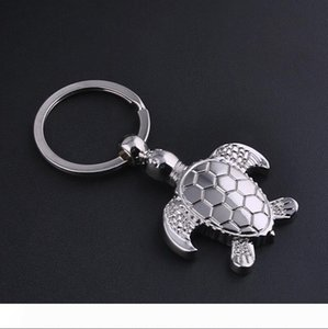 New Caming silver plated turtle tortoise keychains ring animal alloy keychain women keyring bag car charm pendant jewelry