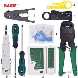 9 en 1 RJ45 RJ11 RJ12 CAT5 CAT5e LAN Portable réseau Repair Tool Kit Utp testeur de câble et pince à sertir Pince à sertir Fiche Pince PC