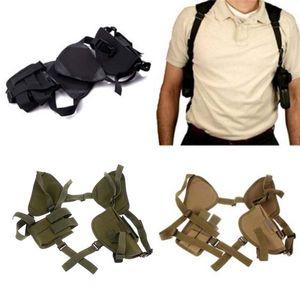 Ombro frete grátis Tactical Universal Duplo titular da axila coldre da pistola da arma Revista Bag Bolsa