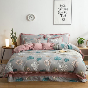 Bedding sets Bamboo Fiber Jacquard Duvet Cover Set Sheets+quilt+Pillowcase Full King Queen Bedding Set Wholesale 777