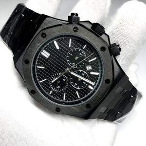 New TopQuality Mann-Uhr-automatische Bewegung gleitet aus zweiten Hand Saphirglas ROYAL OAK Serie 15400 alle Sub-Zifferblätter arbeiten Armbanduhr glätten