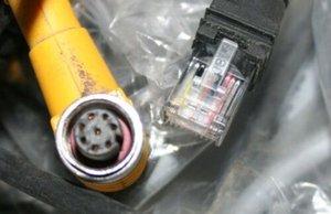Lot of 2 Citadel Datalogic Barcode Scanner Cables P N 884921 XLR-1000 PSC 959