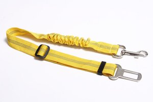 10pcs Portable PET Dog Car Elastic Reflective Safety Rope Dog Seat Belt Dog Traction Rope Leash Free Shipping