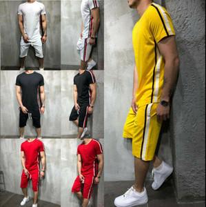 Fato De Treino de verão Curto Dos Homens Conjunto Shorts Fasion Casual Ternos Sportswear Mens