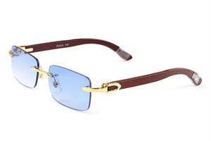 мужские роскошные дизайнерские очки для очков оправы белые буйволиные роговые очки для женщин мужские прозрачные очки деревянные ножки золото