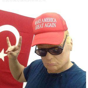 Cospaly partito Trump lattice costume di Halloween Donald presidenziale per Billionaire Lifelike SH190922 Vsolx