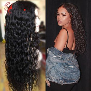 Human Hair (For Black) Wigs 4x4 6x6 Lace Closure Wig Brazilian Deep Wave Wig 28 30 inch Curly Lace Human Hair