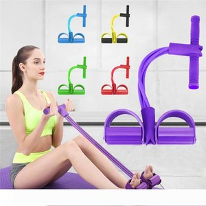Fitness Gum 4 Tube Resistance Bands Latex Pedal Exerciser Sit up Pull Rope Expander Elastic Bands Yoga equipment Pilates Workout Tool R1289