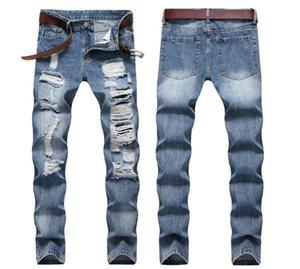 nouveau jeans de haute qualité des hommes de sexe masculin pantalons de mode Casual rippés mince mâle 28-36