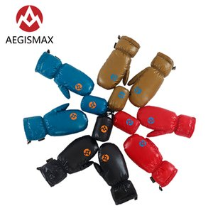 AEGISMAX Skiing Snowboard Cycling Hiking Camping 95% White Down Nylon Unisex Winter Warm Full Fingers Mitten Gloves