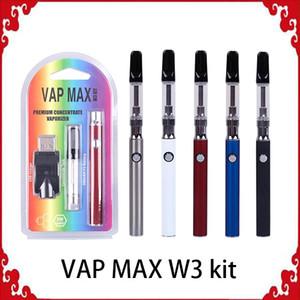 Оригинальный комплект Vap Max W3 350 мАч Разогрев Vertex VV Батарея переменного напряжения 0,5 / 1,0 мл 510 Емкости для стеклянных картриджей Зарядное устройство USB Vape